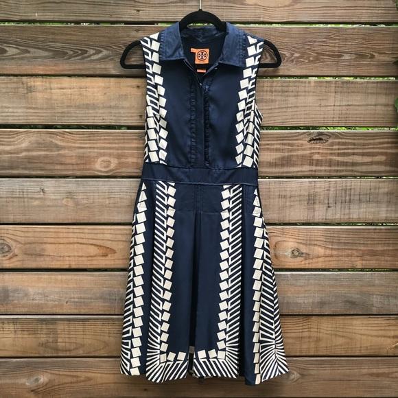 2ee745d0b31f Tory Burch Silk Sleeveless Shirt Dress 4. M 5b21c1e89539f7c6a3369244